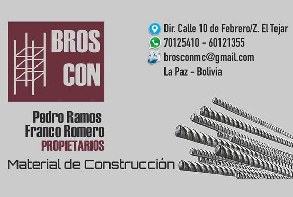 BROSCON – MATERIALES DE CONSTRUCCIÓN