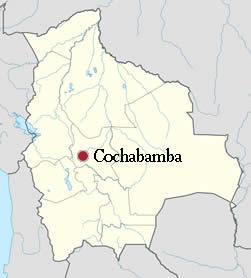Ubicación de Cochabamba