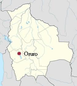 Ubicación de Oruro