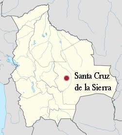 Ubicación de Santa Cruz de la Sierra
