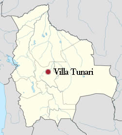 Ubicación de Villa Tunari - Chapare