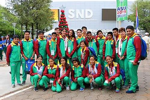 Bolivia participa en los XXV Juegos Sudamericanos Escolares en Paraguay