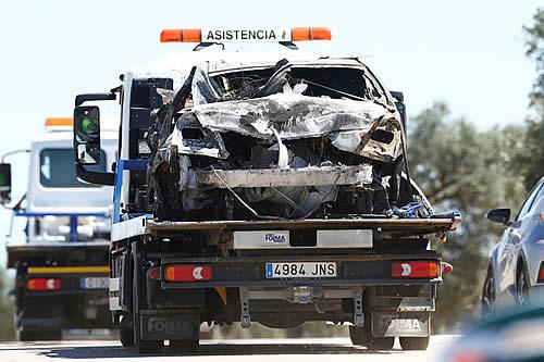 Imágenes desde el lugar del accidente en el que murió el futbolista José Antonio Reyes