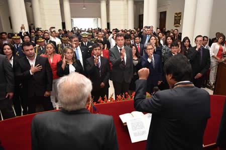 Posesionan a autoridades electas del Órgano Judicial y del Tribunal Constitucional
