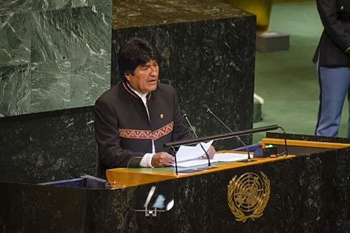 """Morales pide prestar mayor atención al cambio climático y a sus """"graves consecuencias"""""""