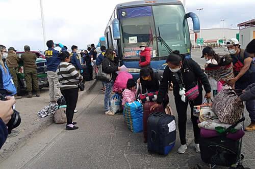 241 connacionales varados en Chile retornaron al país