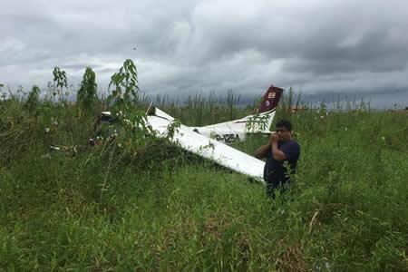 Muere piloto de avioneta que cayó en aeropuerto de Trinidad