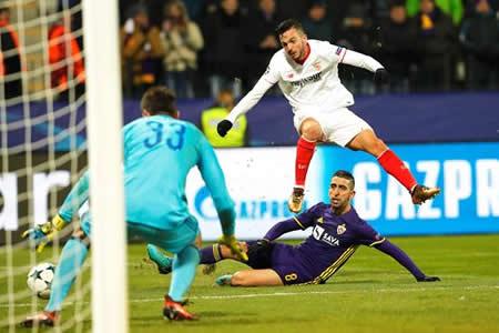 El Sevilla, a los octavos tras arrancar un empate en Maribor