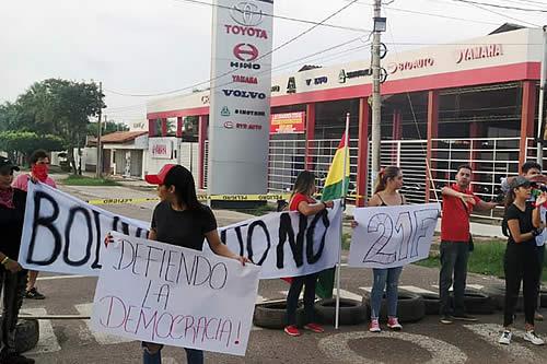 Cochabamba registra pocos puntos de bloqueo por el paro cívico