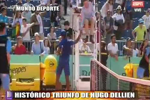 Hugo Dellien vence al número 29 del mundo: Gilles Simon