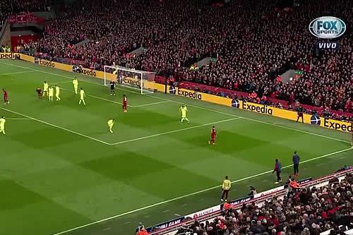 Mira la avivada del Liverpool con la que eliminó al Barza
