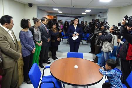 Fiscal General entrega cámara Gesell en El Alto