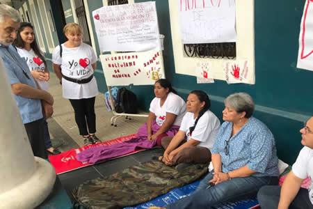 Huelga contra el Art. 157 del aborto cumple segundo día