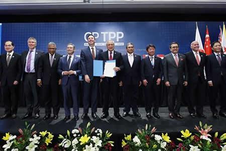 Once países de la cuenca del Pacífico firman en Chile el TPP11
