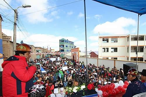 "Presidente refuta a la oposición: ""Ningún Potosí abandonado"""