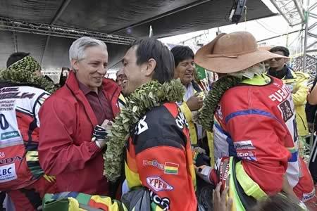 """García Linera: paso del Dakar por Bolivia fue """"único"""""""
