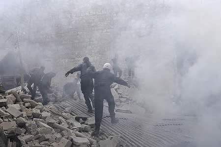 Al menos 43 combatientes muertos por un bombardeo en el norte de Alepo