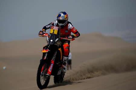 Sunderland, vigente campeón del Dakar, fuera de carrera por un accidente