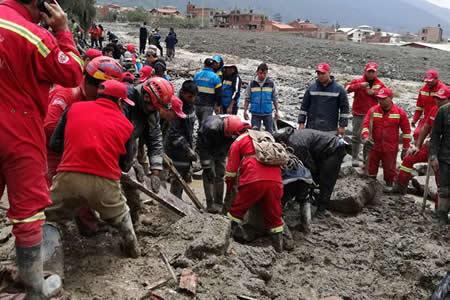 Rescatan el primer cuerpo de tres desaparecidos por riada en Tiquipaya