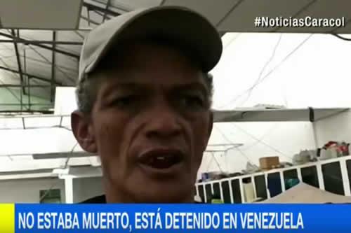 Familia colombiana descubre en televisión que pariente está preso y no muerto