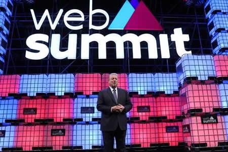 """Al Gore """"recluta"""" a miles de personas contra cambio climático en Web Summit"""