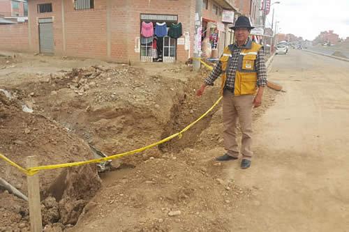 Avanza proyecto de alcantarillado en el Distrito 7 del El Alto