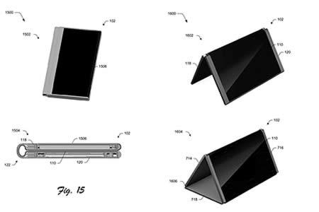 Microsoft patenta un teléfono móvil que se dobla y se convierte en tableta