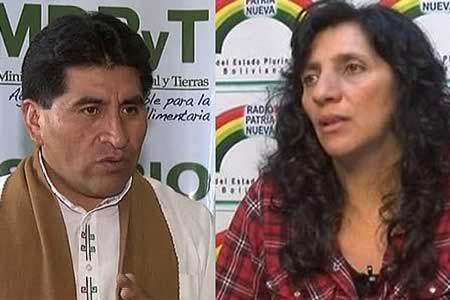 Campesinos cruceños aprueban a Cocarico y aplazan a Ramos