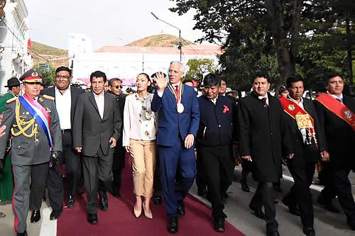 Vicepresidente acompaña actos por los 238 años del grito libertario de Oruro