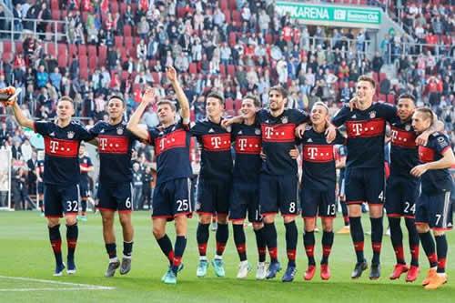 El Bayern se corona campeón alemán con victoria a domicilio ante el Augsburgo