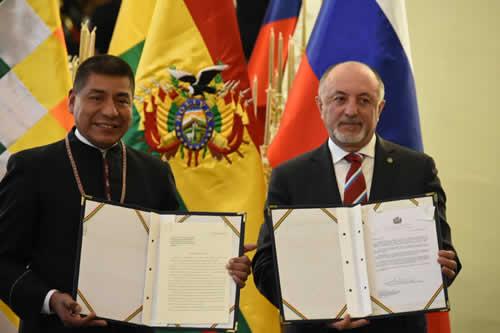 Bolivia y Rusia celebran 120 años de relaciones diplomáticas