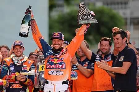 El británico Sam Sunderland (KTM) gana el Dakar de 2017 en motos