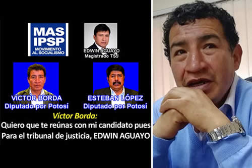 Opositor revela audio y dice que Borda traficó influencias en elección judicial