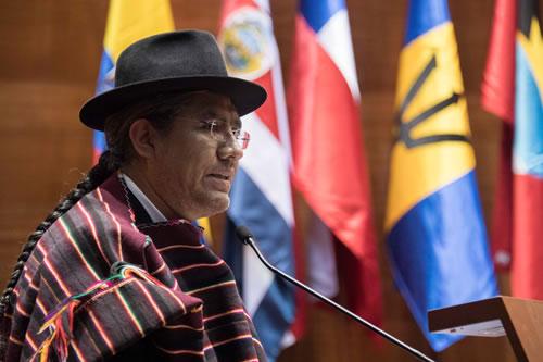 Pary destaca que CIDH sesione por primera vez en Bolivia en plena vigencia el Estado Plurinacional
