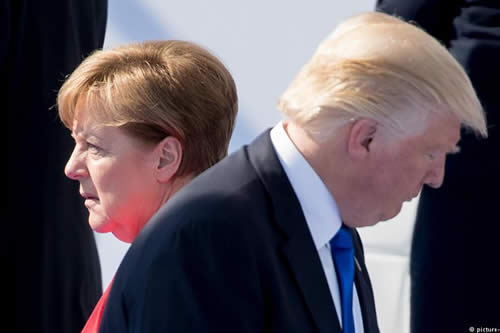 Nervios en la OTAN por tensiones entre Trump y Merkel