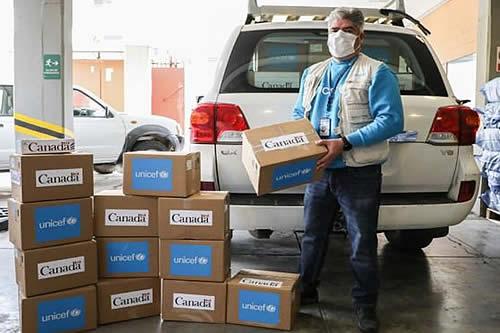 Unicef y Gobierno de Canadá donan 5.000 pruebas para detectar Covid-19