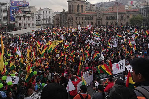 Cabildo del 21F exige que Evo y García Linera renuncien a la repostulación