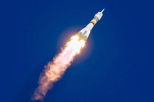 Momento de la falla durante el despegue del cohete Soyuz-FG
