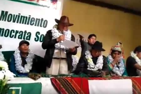 Forman alianza indígena contra la repostulación de Morales