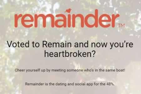 """Crean una aplicación de citas para """"corazones rotos"""" por el """"brexit"""""""