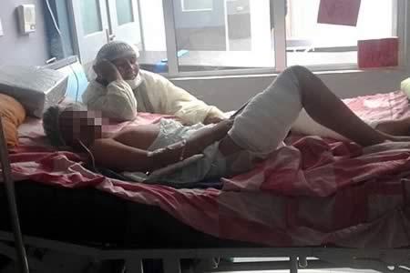Padres causaron graves quemaduras echando gasolina a su hijo de 12 años