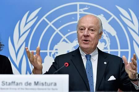 Enviado de ONU para Siria participará en conversaciones de paz en Astaná