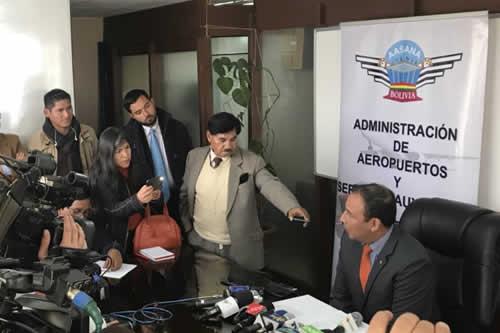 Aasana calcula que jet decomisado debe más de 60.000 bolivianos por 7 meses de pernocte