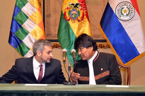 Morales y Abdo Benítez inician reunión en La Paz para perfilar acuerdos bilaterales