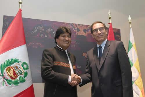 Bolivia y Perú coinciden en acelerar ejecución del tren bioceánico