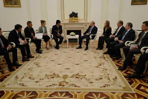 """Canciller dice que relación bilateral entre Bolivia y Rusia pasa a ser una """"asociación estratégica"""""""