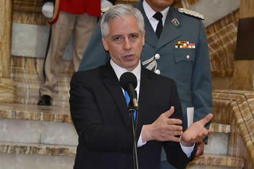 García Linera: Derecha ha iniciado carrera electoral con campaña 'Bolivia dijo no', un resumen de su programa de no a todo