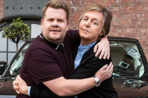 "Paul McCartney se sube al ""Carpool Karaoke"" de Corden en R.Unido"