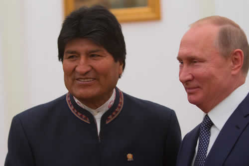 """Putin: """"Gazprom podría duplicar la extracción de gas en Bolivia"""""""