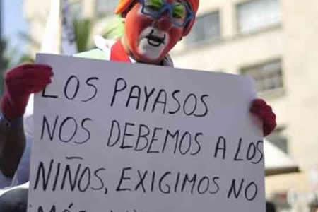 Federación de artistas no conoce a payasos arrestados